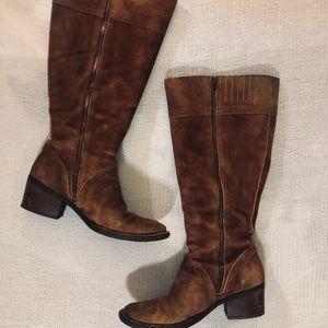 Brown Below The Knee Boots (Wide Calf)